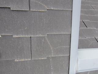 下地調整の重要なポイント4 ひび割れ、クラック補修(屋根)