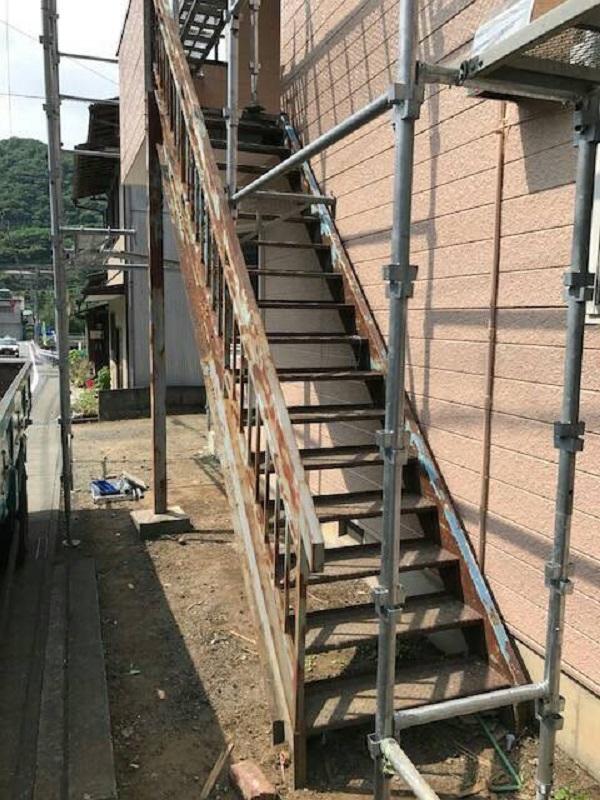 千葉県木更津市 外壁塗装 付帯部塗装 鉄骨階段を行う理由 塗り替え時期