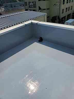 千葉県勝浦市 防水工事 病院屋上 ウレタン防水 通気緩衝工法 (5)